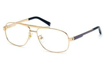 Mont Blanc MB0431 Eyeglass Frames - Matte Blue Frame Color