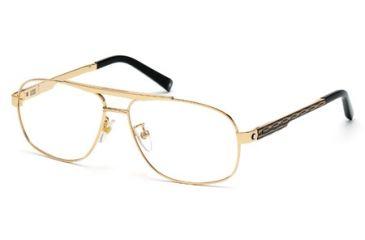 Mont Blanc MB0431 Eyeglass Frames - Shiny Black Frame Color