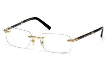 Mont Blanc MB0432 Eyeglass Frames - Shiny Rose Gold Frame Color