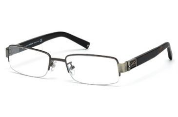 Mont Blanc MB0444 Eyeglass Frames - Shiny Gun Metal Frame Color