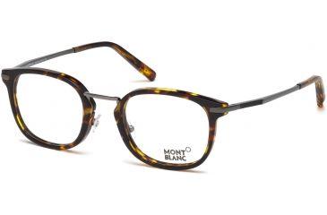 11b8e74cab Mont Blanc MB0671 Eyeglass Frames - Coloured Havana Frame Color