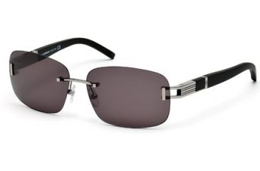 Mont Blanc MB408S Sunglasses - Shiny Light Ruthenium Frame Color, Smoke Lens Color