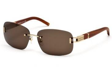 Mont Blanc MB408S Sunglasses - Shiny Rose Gold Frame Color, Roviex Lens Color