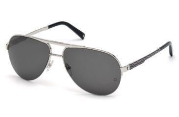 Mont Blanc MB457S Sunglasses - Shiny Palladium Frame Color, Smoke Lens Color