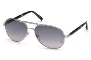 Mont Blanc MB458S Sunglasses - Shiny Palladium Frame Color, Gradient Smoke Lens Color