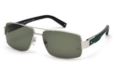 Mont Blanc MB460S Sunglasses - Shiny Palladium Frame Color, Green Lens Color