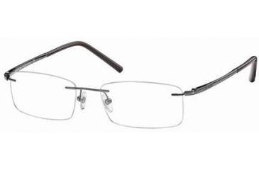 Montblanc MB0293 Eyeglass Frames - Shiny Gun Metal Frame Color