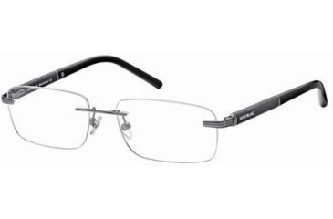 Montblanc MB0337 Glasses Frames - Shiny Dark Ruthenium Frame Color