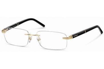 Montblanc MB0337 Glasses Frames - Shiny Endura Gold Frame Color