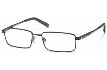 Montblanc MB0340 Eyeglass Frames - Shiny Gun Metal Frame Color