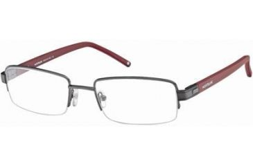 Montblanc MB0342 Eyeglass Frames - Shiny Gun Metal Frame Color