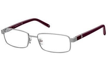 Montblanc MB0386 Eyeglass Frames - Shiny Light Ruthenium Frame Color