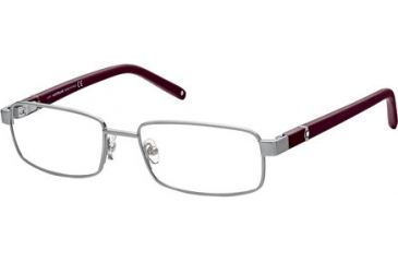 Montblanc MB0386 Eyeglass Frames - Shiny Light Ruthenium Frame Color