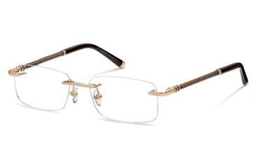 Montblanc MB0391 Eyeglass Frames - Shiny Rose Gold Frame Color