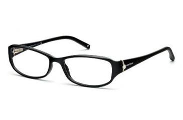 Montblanc MB0393 Eyeglass Frames - Shiny Black Frame Color