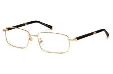 Montblanc MB0396 Eyeglass Frames - Shiny Rose Gold Frame Color