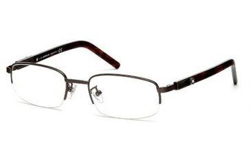 Montblanc MB0399 Eyeglass Frames - Shiny Gun Metal Frame Color