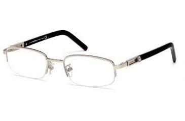 Montblanc MB0399 Eyeglass Frames - Shiny Palladium Frame Color