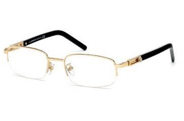 Montblanc MB0399 Eyeglass Frames - Shiny Rose Gold Frame Color