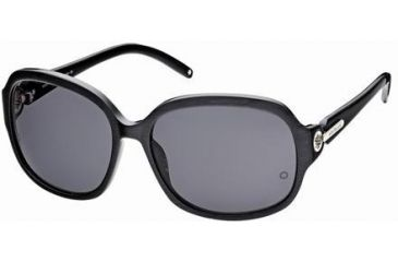 Montblanc MB313S Sunglasses - Shiny Black Frame Color, Smoke Lens Color