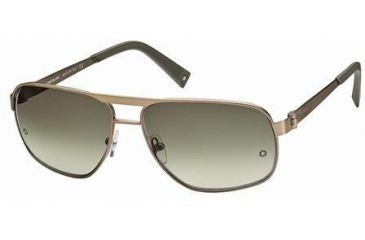 Montblanc MB323S Sunglasses - Shiny Light Bronze Frame Color, Gradient Green Lens Color