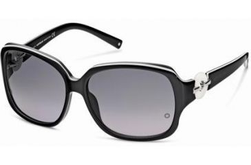 Montblanc MB356S Sunglasses - Black Frame Color, Gradient Smoke Lens Color