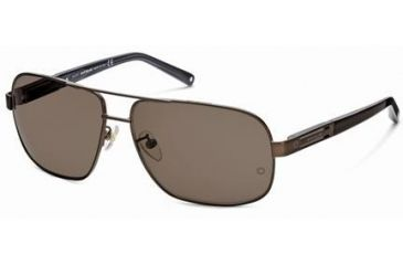 Montblanc MB368S Sunglasses - Shiny Dark Brown Frame Color, Brown Lens Color