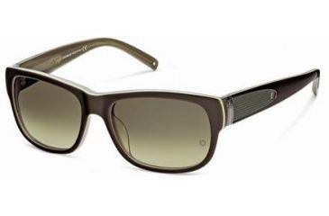 Montblanc MB371S Sunglasses - Dark Brown Frame Color, Gradient Green Lens Color