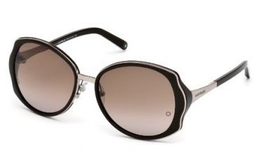 Mont Blanc MB416S Sunglasses - Shiny Dark Brown Frame Color