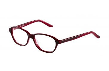 Morgan 201056 Single Vision Prescription Eyeglasses - Red Frame and Clear Lens 201056-8046SV