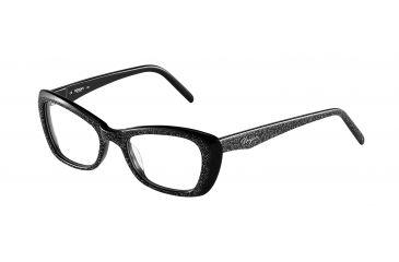 Morgan 201062 Bifocal Prescription Eyeglasses - Black Frame and Clear Lens 201062-6453BI