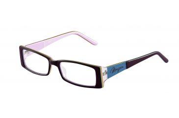Morgan 201065 Single Vision Prescription Eyeglasses - Red Frame and Clear Lens 201065-6554SV