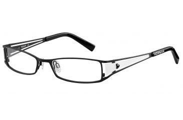 Morgan 203075 Progressive Prescription Eyeglasses - Black Frame and Clear Lens 203075-610PR