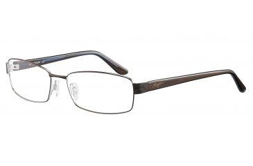 Morgan 203120 Single Vision Prescription Eyeglasses - Brown Frame and Clear Lens 203120-422SV