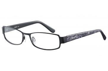 Morgan 203121 Single Vision Prescription Eyeglasses - Black Frame and Clear Lens 203121-610SV