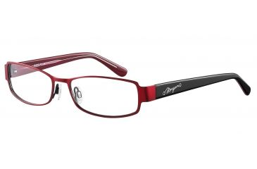 Morgan 203121 Single Vision Prescription Eyeglasses - Red Frame and Clear Lens 203121-378SV