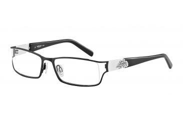 Morgan 203122 Progressive Prescription Eyeglasses - Black Frame and Clear Lens 203122-416PR