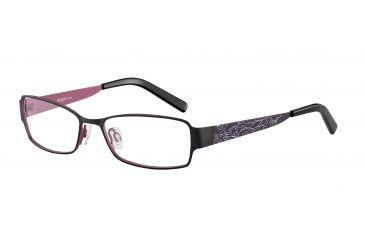 Morgan 203123 Progressive Prescription Eyeglasses - Black Frame and Clear Lens 203123-436PR