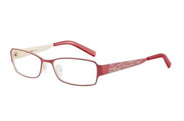 Morgan 203123 Progressive Prescription Eyeglasses - Red Frame and Clear Lens 203123-435PR