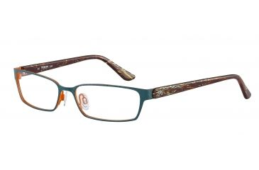 Morgan 203125 Single Vision Prescription Eyeglasses - Blue Frame and Clear Lens 203125-433SV