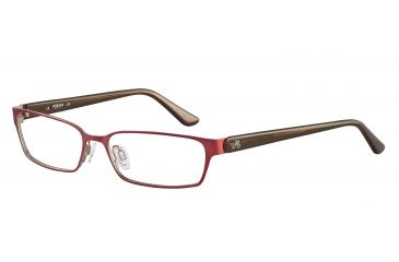 Morgan 203125 Single Vision Prescription Eyeglasses - Red Frame and Clear Lens 203125-431SV