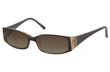 Morgan 207114 Single Vision Prescription Sunglasses - Brown Frame and Grey Green Lens 207114-6172SV