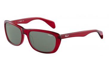 Morgan 207141 Single Vision Prescription Sunglasses - Red Frame and Grey Green Lens 207141-6500SV