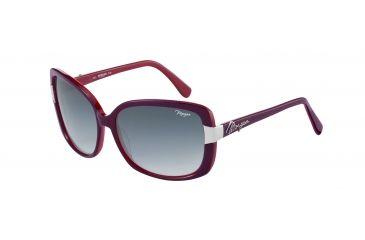 Morgan No. 207142 Sunglasses - Red Frame and Grey Blue Gradient Lens 207142-6513