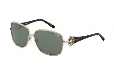 Morgan No. 207338 Sunglasses - Gold Frame and Grey Green Lens 207338-600