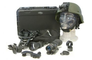 Morovision Night Enforcer Night Vision Monocular Delta Kit, Gen 3 Pinnacle w/Weapons Mount & MICH Mount - NEPVS14-17DKM