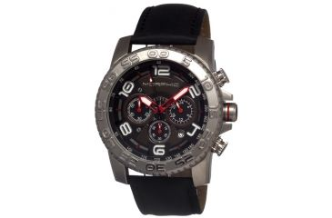 Morphic 0202 M2 Series Mens Watch, Black Dial w/ Black Leather Band, Stainless Steel Case MPH0202