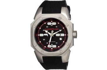 Morphic 1001 M10 Series Mens Watch, Black Dial w/ Black Rubber Band, Titanium Grey Case MPH1001