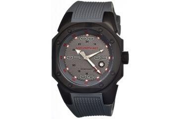 Morphic 1005 M10 Series Mens Watch, Grey Dial w/ Grey Rubber Band, Titanium Black Case MPH1005