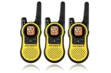 Motorola Talkabout 23 Mile Two Way Radio Yellow Triple Pack Mh230tpr